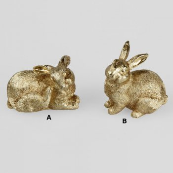 Hase 10 cm Trend-Gold formano